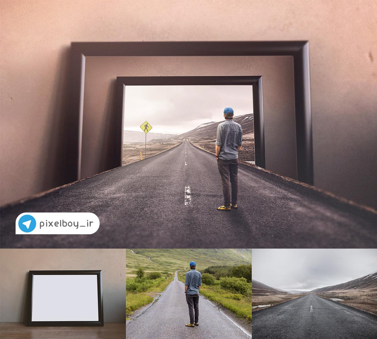 آموزش حرفه ای ترکیب تصاویر در فتوشاپ ( توهم قاب )