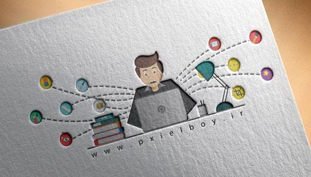 دانلود موکاپ کاغذی لوگو به صورت لایه باز