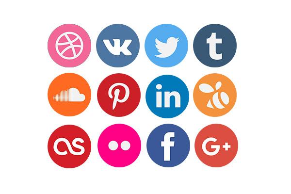 مجموعه آیکن فلت شبکه های اجتماعی سری سوم