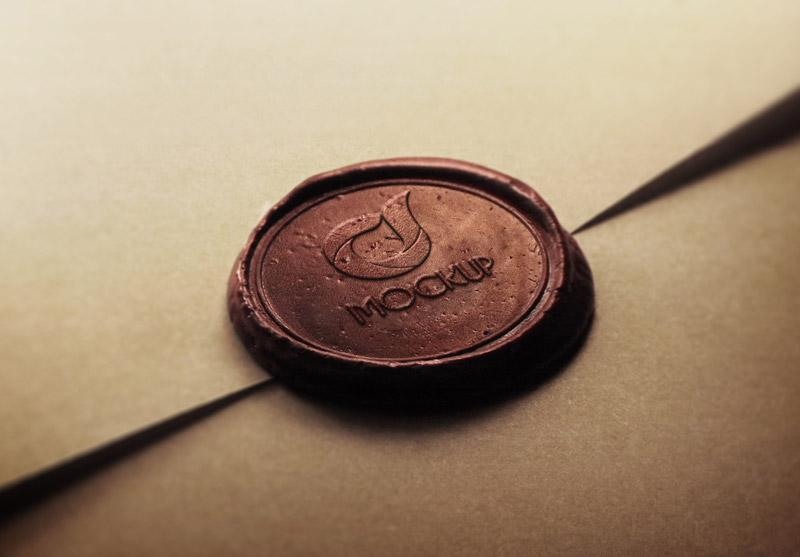دانلود موکاپ لوگو بر روی مهر به صورت لایه باز