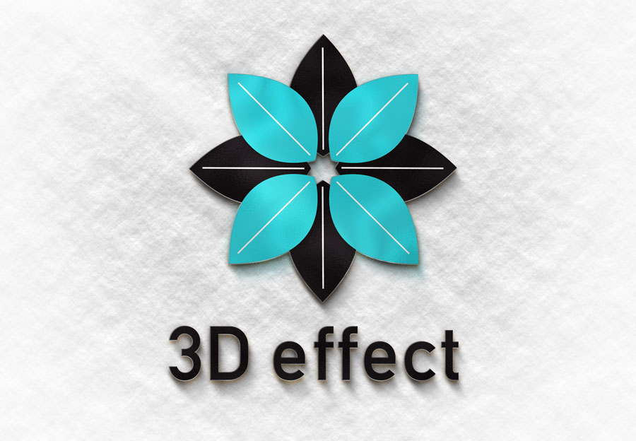 دانلود موکاپ سه بعدی لوگو بر روی کاغذ
