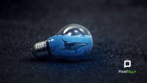 آموزش خلق یک تصویر سورئال به شکل لامپ در فتوشاپ